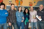 Con los colegas en Ortiguera
